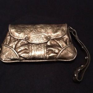 Gold Juicy Couture wristlet/clutch